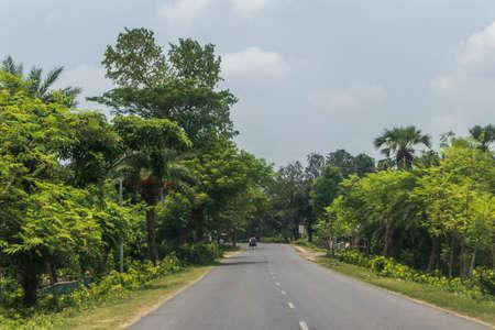 Almost empty highway road in bangladesh