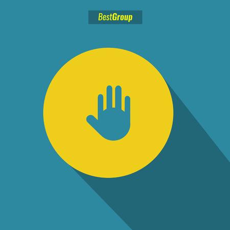 multimedia background: stop icon vector