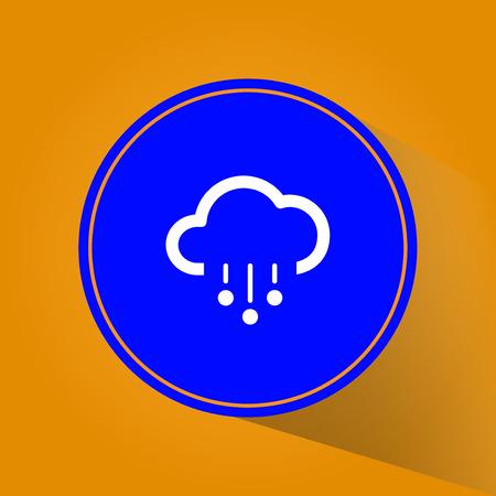 Minimalistic Weather icons. Vector Illustration