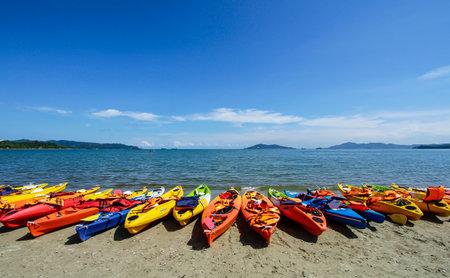 likas: Kayak at Likas Bay, Sabah, Malaysia