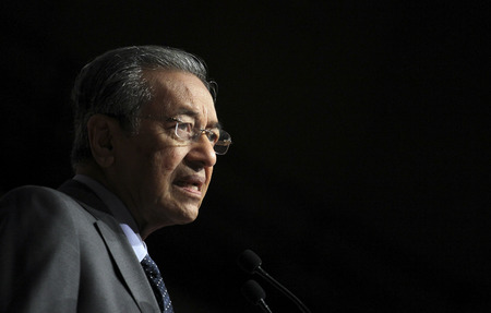KUALA LUMPUR, MALAYSIA - FEBRUARY 18, 2013: Former Malaysia Prime Minister, Tun Dr. Mahathir Mohamad.