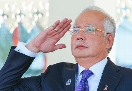 1malaysia: KUALA LUMPUR, MALAYSIA - MARCH 23, 2014: Malaysia Prime Minister, Najib Razak.