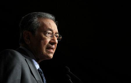 prime: KUALA LUMPUR, MALAYSIA - FEBRUARY 18, 2013: Former Malaysia Prime Minister, Tun Dr. Mahathir Mohamad.