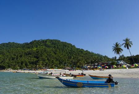 Beautiful scene at Perhentian Kecil Island beach, Terengganu, Malaysia.