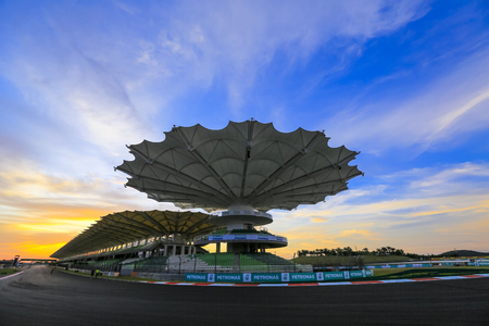 sic: SEPANG, MALAYSIA - OCTOBER 26, 2016 : Sepang International Circuit (SIC) Malaysia. Every year SIC will be circuit for the Formula One (F1) and MotoGP race. Editorial