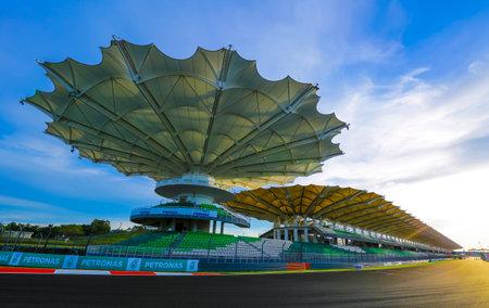 セパン - 2016 年 10 月 26 日: セパン インターナショナル サーキット (SIC) マレーシア。毎年 SIC フォーミュ ラワン (F1) と motogp クラスのレースのための 報道画像