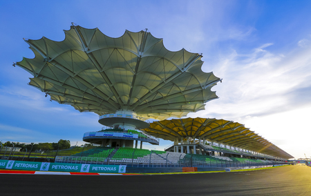 SEPANG, MALAYSIA - OCTOBER 26, 2016 : Sepang International Circuit (SIC) Malaysia. Every year SIC will be circuit for the Formula One (F1) and MotoGP race. Editorial