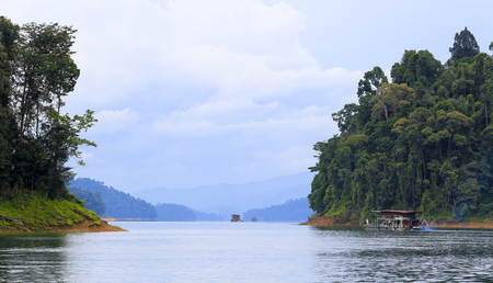 A beautiful scene at Kenyir Lake, Terengganu, Malaysia. Kenyir Lake also known as Tasik Kenyir, it is the largest man-made lake in South East Asia with an area of 260,000 hectares.