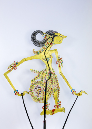 Traditionele Shadow Puppet Show in Maleisië en Indonesië of Wayang Kulit. Stockfoto