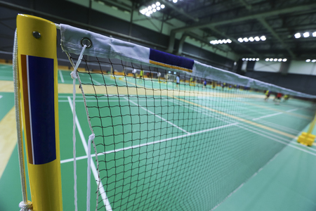 Close up of net in badminton court