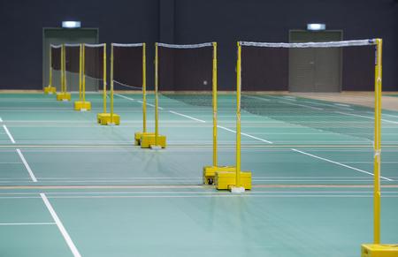 Badminton court 版權商用圖片