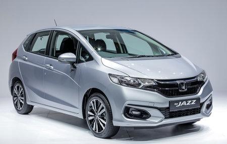 KUALA LUMPUR, MALAYSIA - JUNE 06, 2017 : Subcompact car, Honda Jazz / Fit.