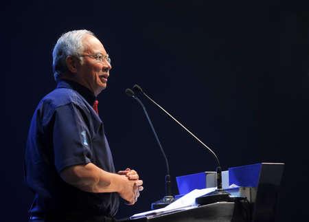 1malaysia: KUALA LUMPUR, MALAYSIA - APRIL 16, 2012 : Malaysia Prime Minister, Najib Razak.
