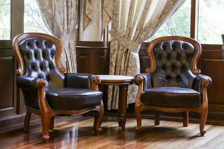 Classic luxury leather chair Banque d'images