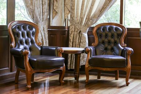 Classic luxury leather chair Standard-Bild