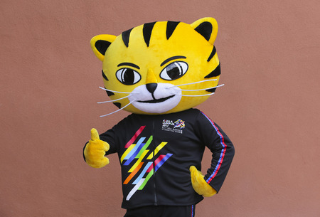 KUALA LUMPUR, MALAYSIA - JULY 13, 2017 : Rimau, mascot for 29th Southeast Asian Games (SEA Games) inspired by the graceful and powerful Malayan Tiger. Kuala Lumpur 2017 (KL2017).