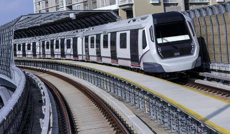 Malaysia MRT (Mass Rapid Transit) train, a transportation for future generation. Stock Photo