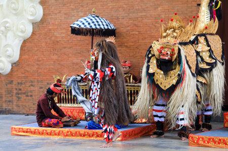 BALI, INDONESIA - NOVEMBER 15, 2017 : Barong Keris Dance performed at Garuda Wisnu Kencana Cultural Park or GWK, a cultural park located at Ungasan Bali. Editorial