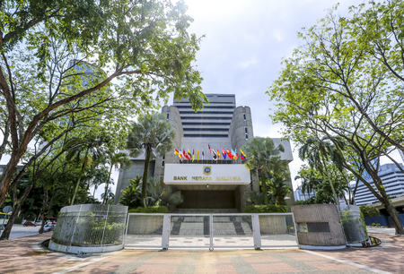 KUALA LUMPUR, MALAYSIA - JUNE 27, 2018 : The Central Bank of Malaysia (BNM; Bank Negara Malaysia) is the Malaysian central bank. BNM is to promote monetary and financial stability. Stock Photo - 103776549