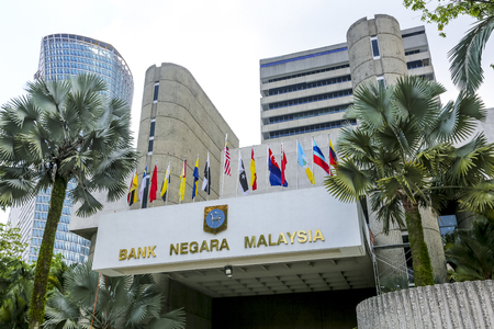 KUALA LUMPUR, MALAYSIA - JUNE 27, 2018 : The Central Bank of Malaysia (BNM; Bank Negara Malaysia) is the Malaysian central bank. BNM is to promote monetary and financial stability. Editorial