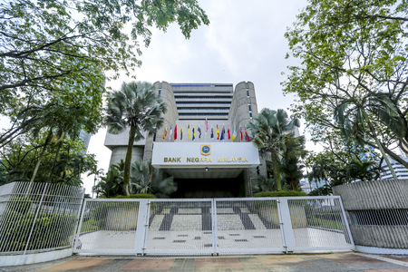 KUALA LUMPUR, MALAYSIA - JUNE 27, 2018 : The Central Bank of Malaysia (BNM; Bank Negara Malaysia) is the Malaysian central bank. BNM is to promote monetary and financial stability. 報道画像