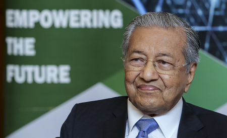 KUALA LUMPUR, MALAYSIA - AUGUST 27, 2018 : Malaysia Prime Minister Mahathir Mohamad. Malaysian politician currently serving as the Prime Minister of Malaysia for the second time.
