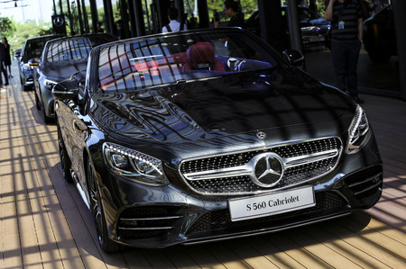 KUALA LUMPUR, MALAYSIA - AUGUST 24, 2018 : Mercedes-Benz S560 Cabriolet. Dream Car Collection.