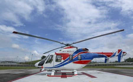 SEPANG, MALAYSIA - DECEMBER 03, 2018 : Russian Helicopter, Ansat is multi-purpose light helicopter. Editorial