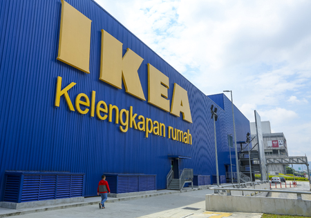 KUALA LUMPUR, MALAYSIA - JUNE 27, 2018 : Ikea Store at Kuala Lumpur. IKEA is the world's largest furniture retailer and sells ready to assemble furniture. Founded in Sweden in 1943.