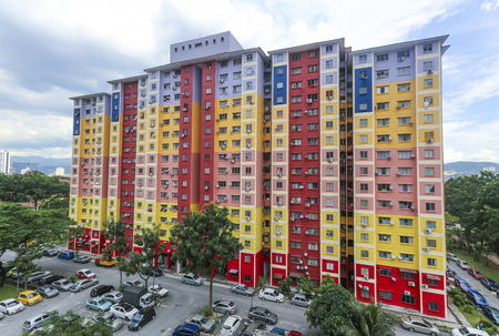 KUALA LUMPUR, MALAYSIA - NOVEMBER 10, 2018 : People's Housing Program or PPR is low cost house project by government. Editorial
