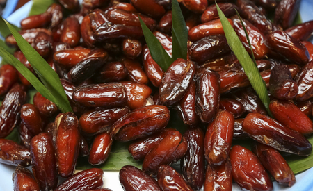 Delicious fresh dried dates. Energy source during Ramadan.