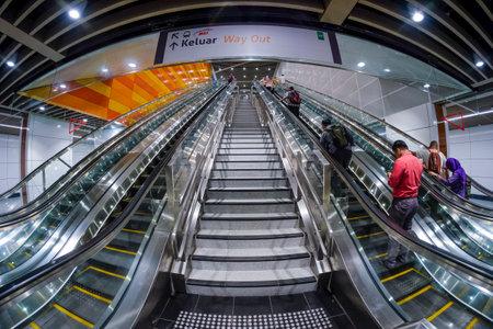 KUALA LUMPUR, MALAYSIA : AUGUST 01, 2017 : Cochrane MRT station. Mass Rapid Transit (MRT) alleviate the severe traffic congestion in the KL metropolitan area.