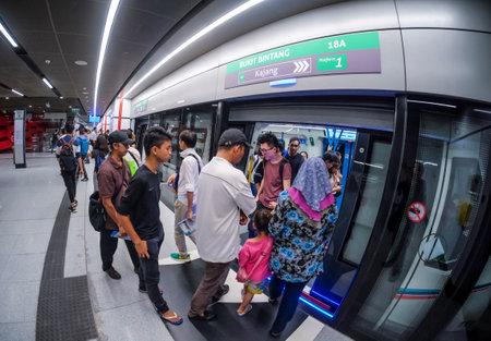 KUALA LUMPUR, MALAYSIA : AUGUST 01, 2017 : Bukit Bintang MRT station. Mass Rapid Transit (MRT) alleviate the severe traffic congestion in the KL metropolitan area.