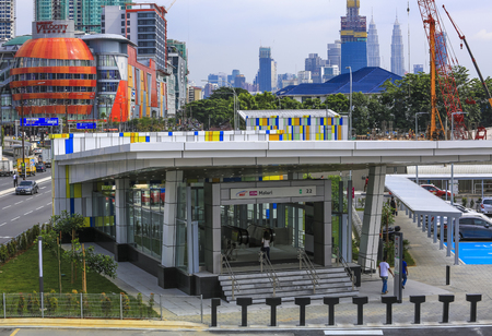 KUALA LUMPUR, MALAYSIA : AUGUST 01, 2017 : Mass Rapid Transit (MRT) Maluri station. MRT alleviate the severe traffic congestion in the KL metropolitan area.