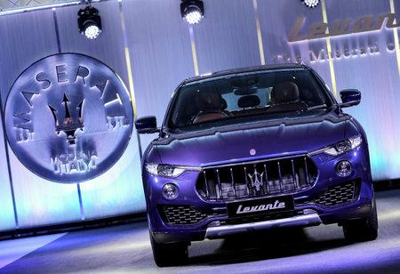 KUALA LUMPUR, MALAYSIA - NOVEMBER 24, 2017 : Maserati Levante S GranLusso Sport Utility Vehicle (SUV). Editorial