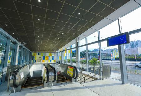 KUALA LUMPUR, MALAYSIA : AUGUST 01, 2017 : Mass Rapid Transit (MRT) Maluri station. MRT alleviate the severe traffic congestion in the KL metropolitan area.