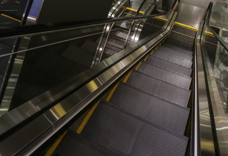 Escalator at shopping mall.