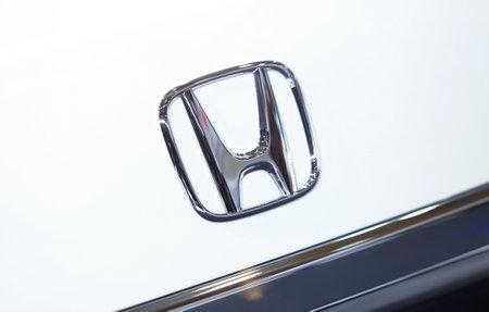 KUALA LUMPUR, MALAYSIA - APRIL 26, 2018 : Logo of Honda. Honda Motor Company, Ltd. is a Japanese public multinational conglomerate corporation.