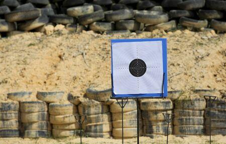 Target for shooting practice at shooting range.