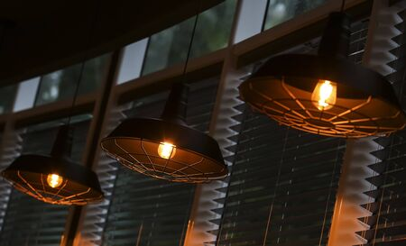 Ceiling lighting lamps interior decoration.
