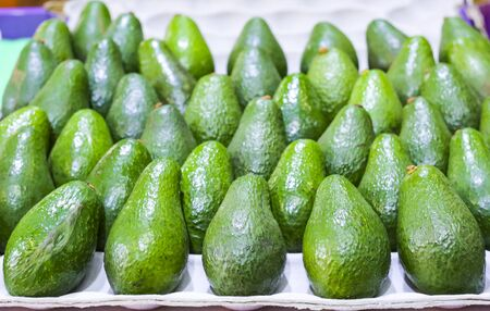 Fresh avocado at tourist attraction place, Queen Victoria Market. Market for fruit and vegetables. Reklamní fotografie