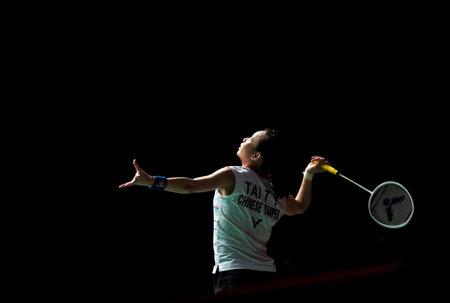 KUALA LUMPUR, MALAYSIA - JANUARY 12, 2020 : Tai Tzu Ying of Chinese Taipei (Taiwan) in action during women's singles badminton tournament, Perodua Malaysia Masters 2020 at the Axiata Arena.