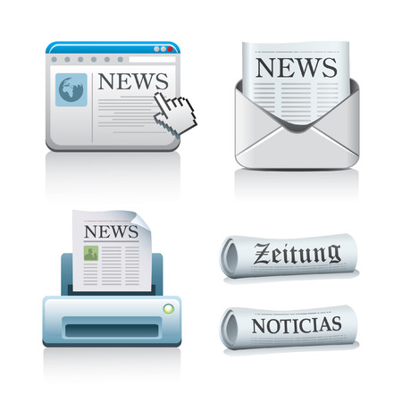 press news: Newspaper Icons