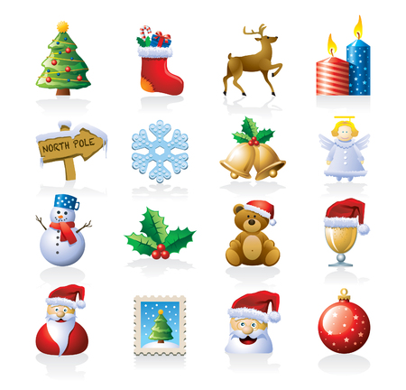 christmass: Icono de la Navidad Vectores