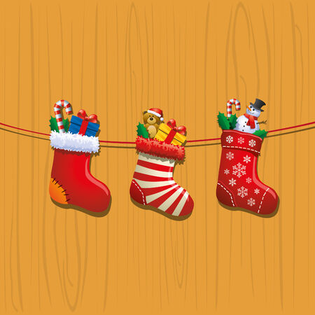stockings: Christmas Stockings Illustration