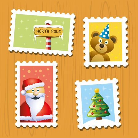 Christmas Stamps Stock Vector - 8486732