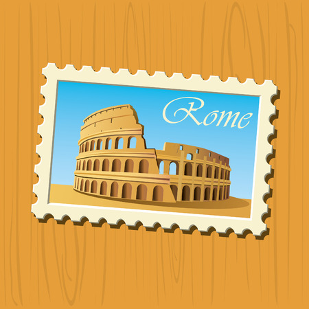 old ruin: Colosseum  Illustration