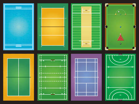 sports grounds Vector