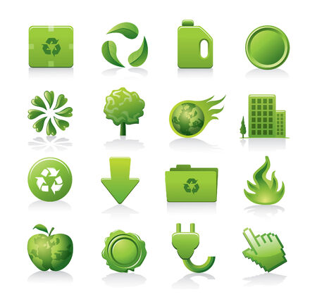 fire plug: eco icons Illustration