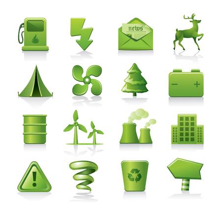 tent city: eco icons Illustration